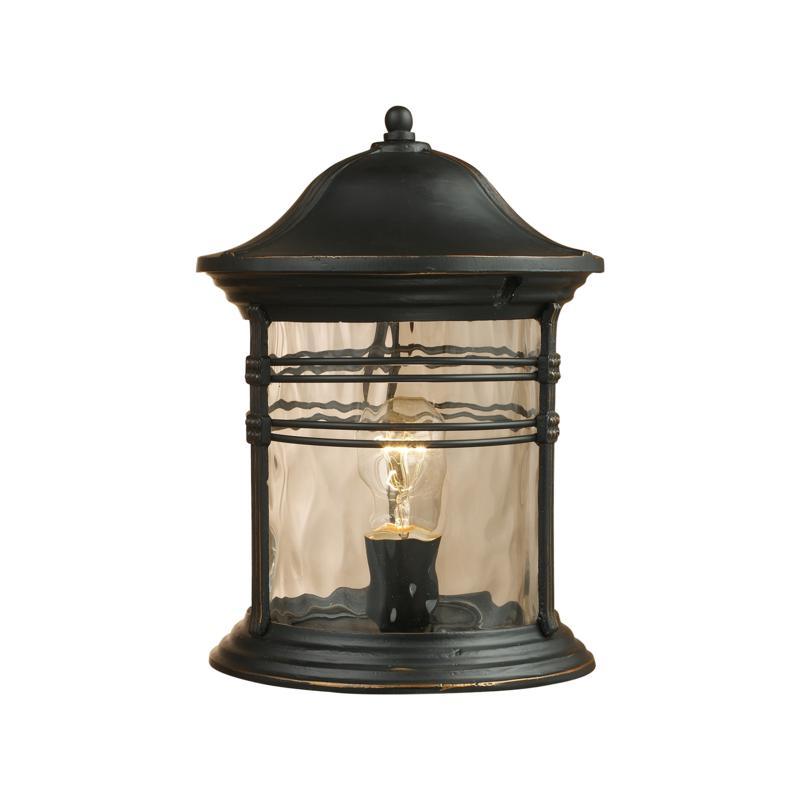 "ELK Lighting 16"" Madison Black Outdoor Post Light"