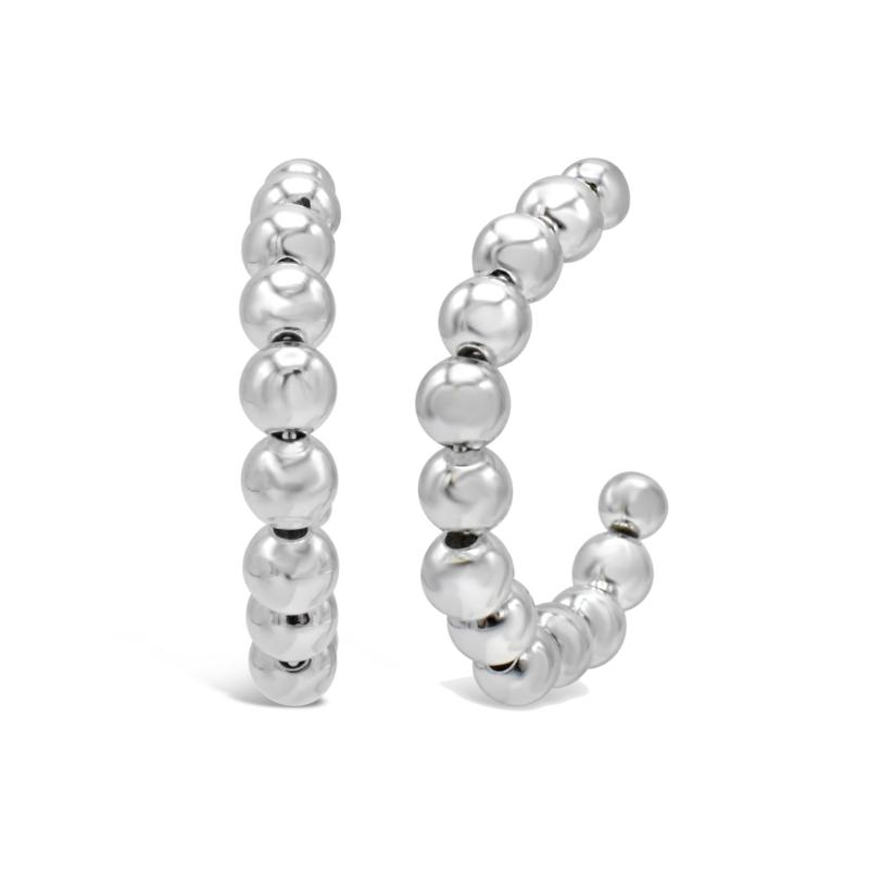 Elyse Ryan Sterling Silver Beaded Hoop Earrings