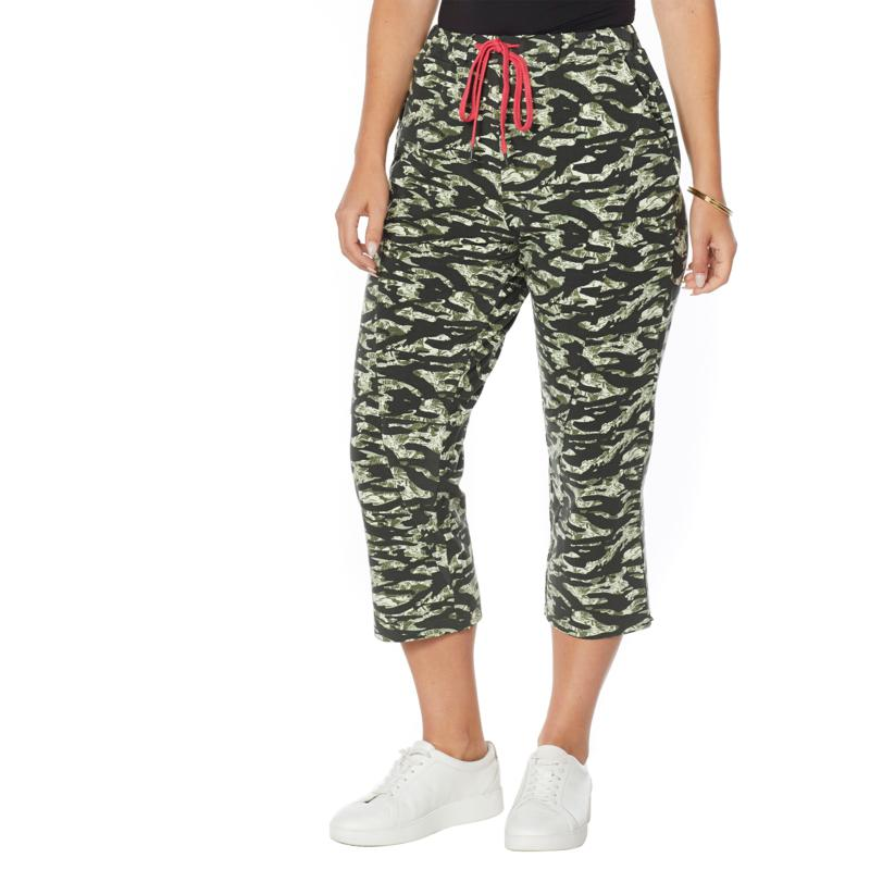 Evryday Jane Pull-On French Terry Drawstring Crop Pant