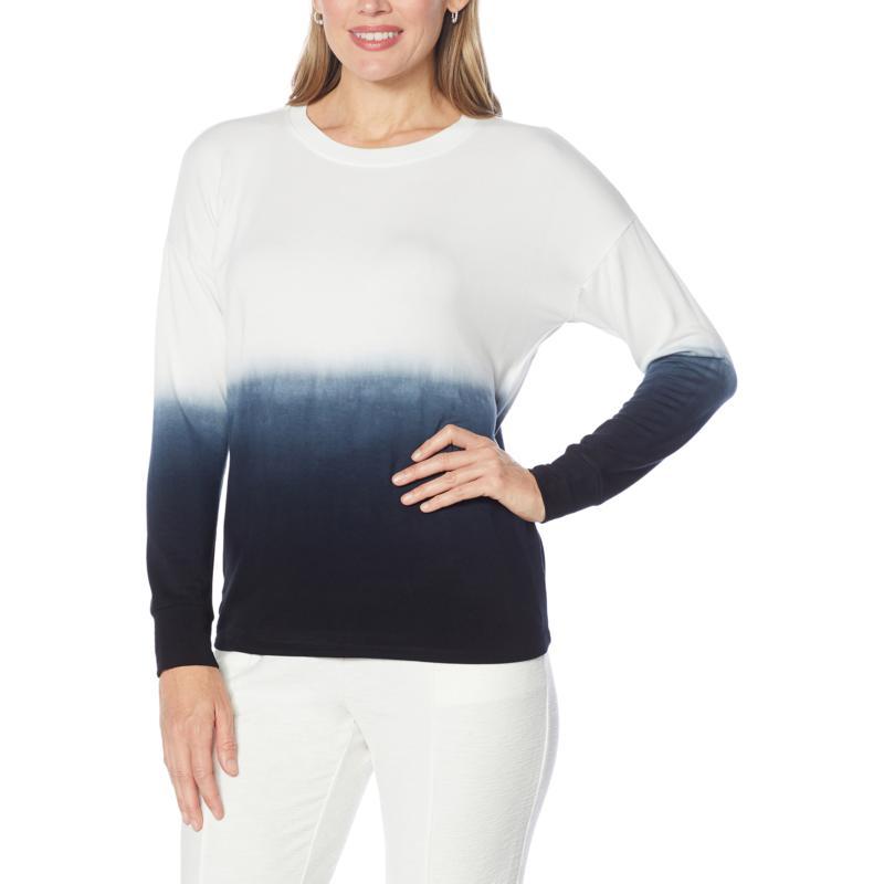 EZ by Nina Leonard Lounge Knit Tie-Dye Top