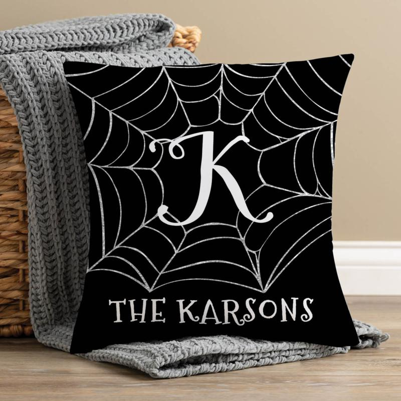 Family Web Personalized Throw Pillow