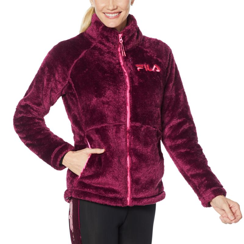 FILA Curve Front-Zip Cuddle Coat