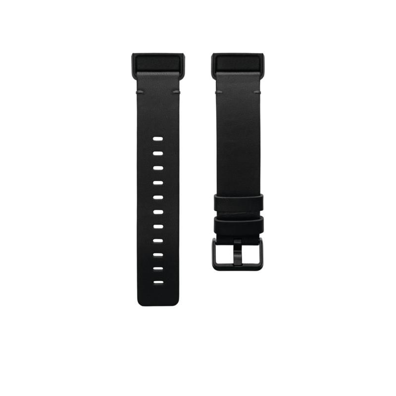 Fitbit Charge 4 Small Leather Band in Black
