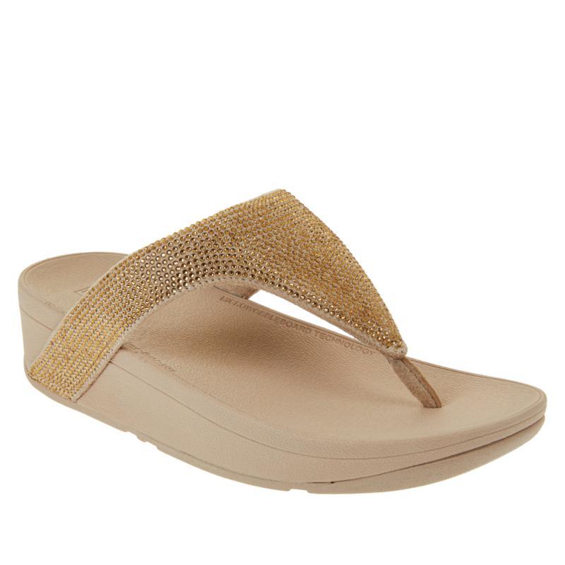 FitFlop Lottie Shimmer Crystal Toe Post Sandal
