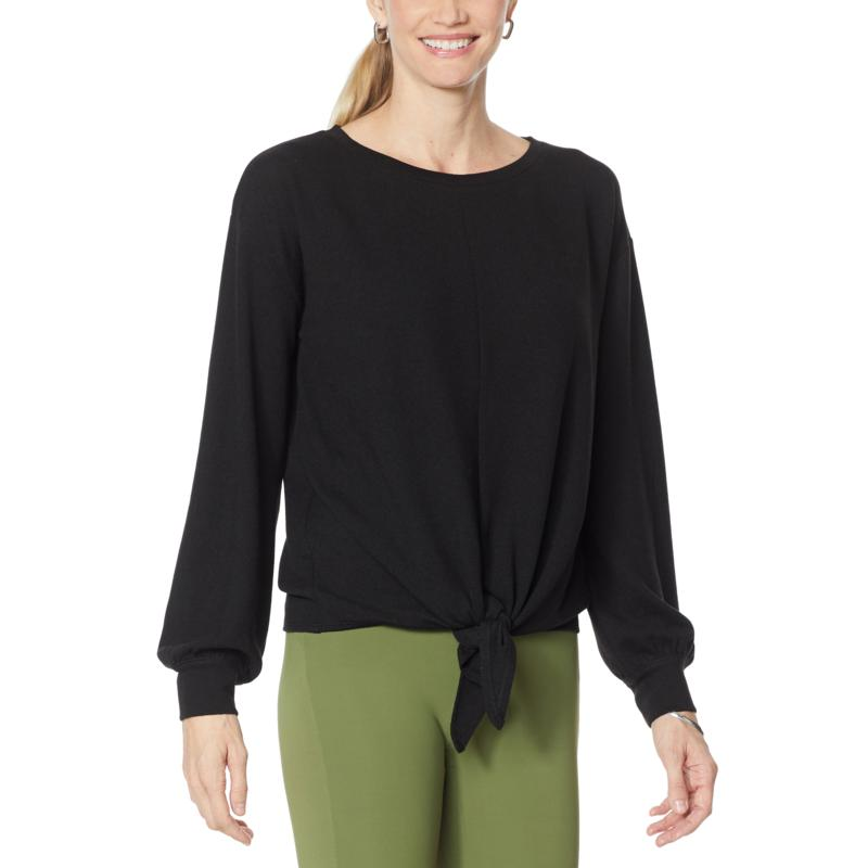 G by Giuliana Hacci Knit Tie-Front Top