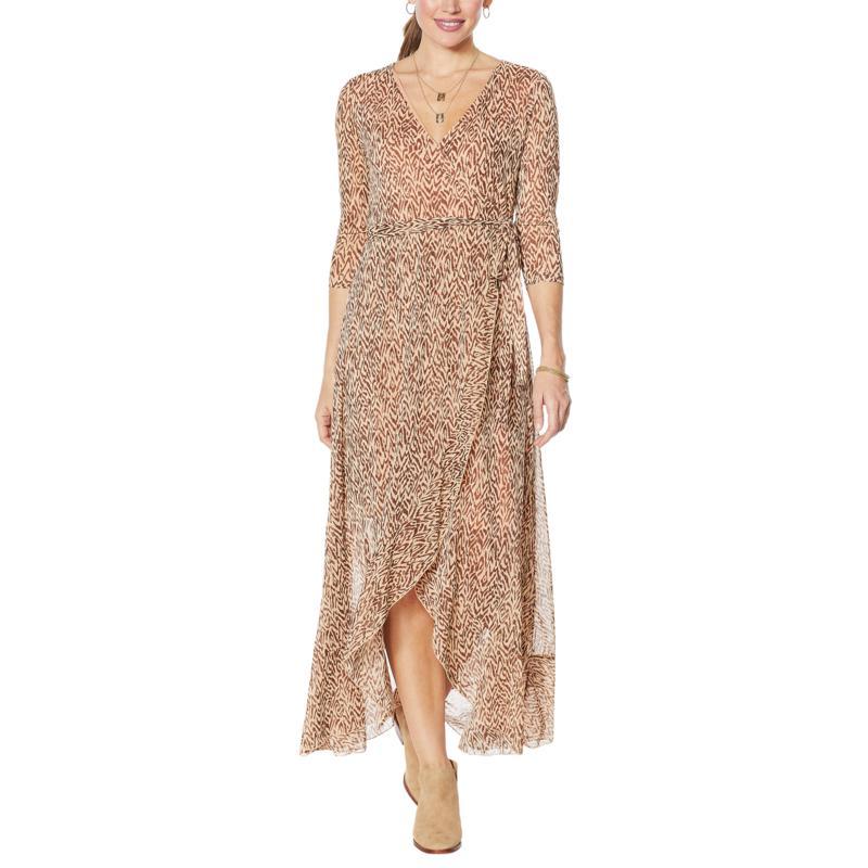 G by Giuliana Tulip-Hem Mesh Dress