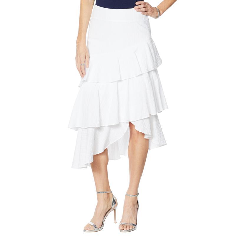G by Giuliana Woven Ruffle Skirt