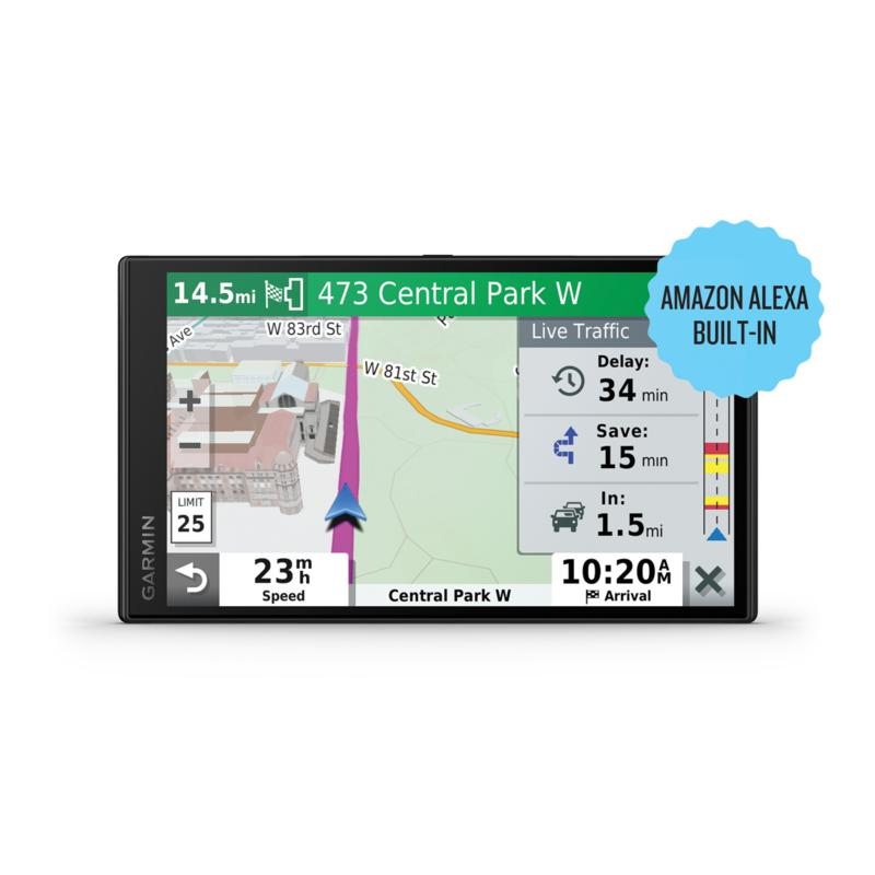 Garmin DriveSmart 65 6.95-Inch GPS Navigator with Amazon Alexa