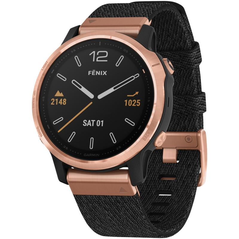 Garmin Fenix 6S Sapphire GPS Watch in Rose Gold Tone