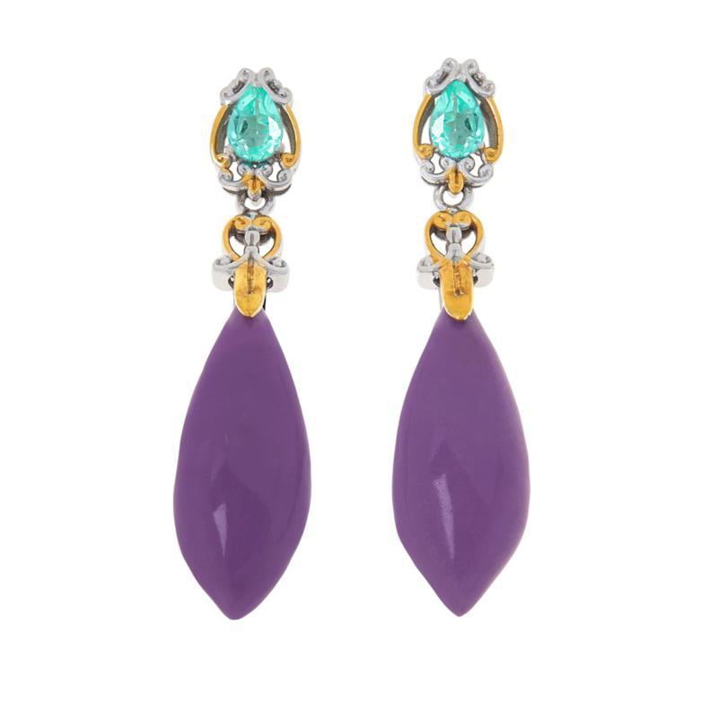 Gems by Michael Phosphosiderite and Apatite Drop Earrings
