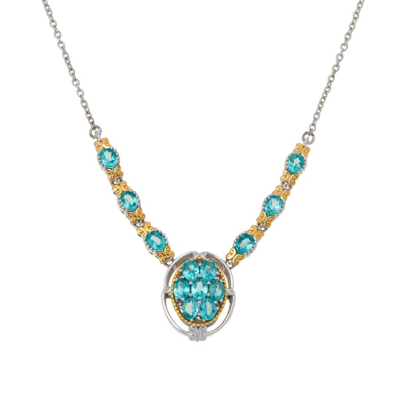 Gems by Michael Sterling Silver Dauphin Apatite Necklace