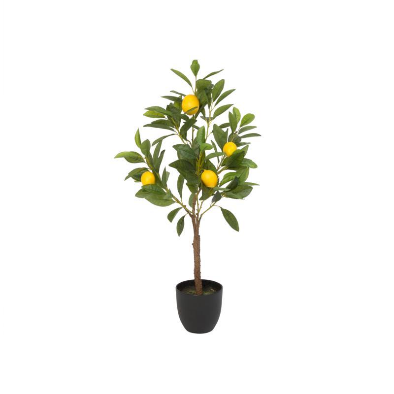 Gerson Artificial Lemon Tree in Black Pot