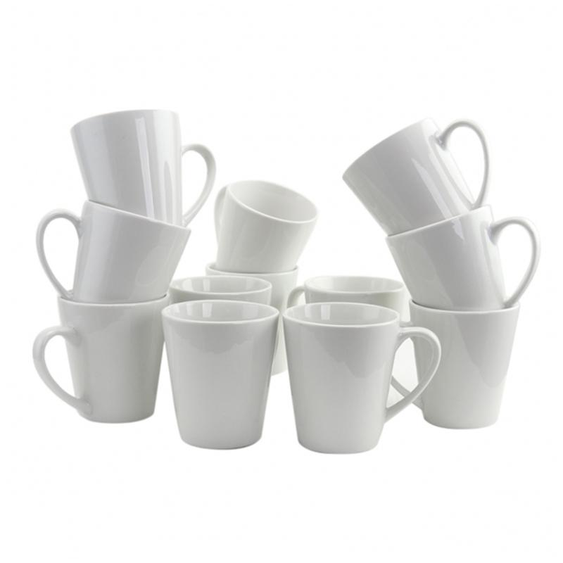 Gibson Home Finer Details 12-piece 12 oz. Mug Set in White