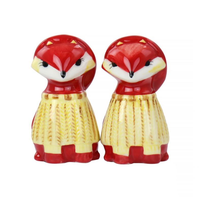 Gibson Home Woodland Fox Salt & Pepper Set