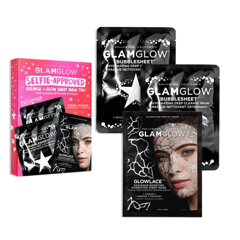 GLAMGLOW Selfie Approved Cleanse and Glow Sheet Mask Trio