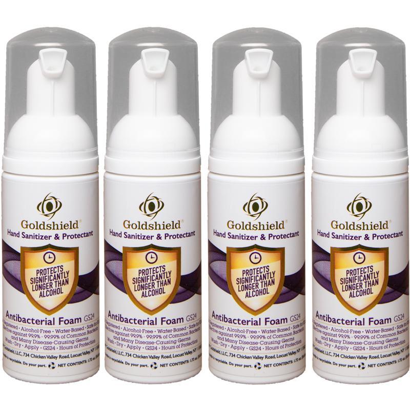 Goldshield Moisturizing Hand Sanitizer and Protectant 4-pack