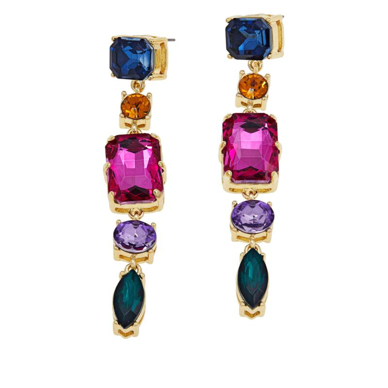 "Graziano ""Sparkle Sparkle"" Multicolor Drop Earrings"