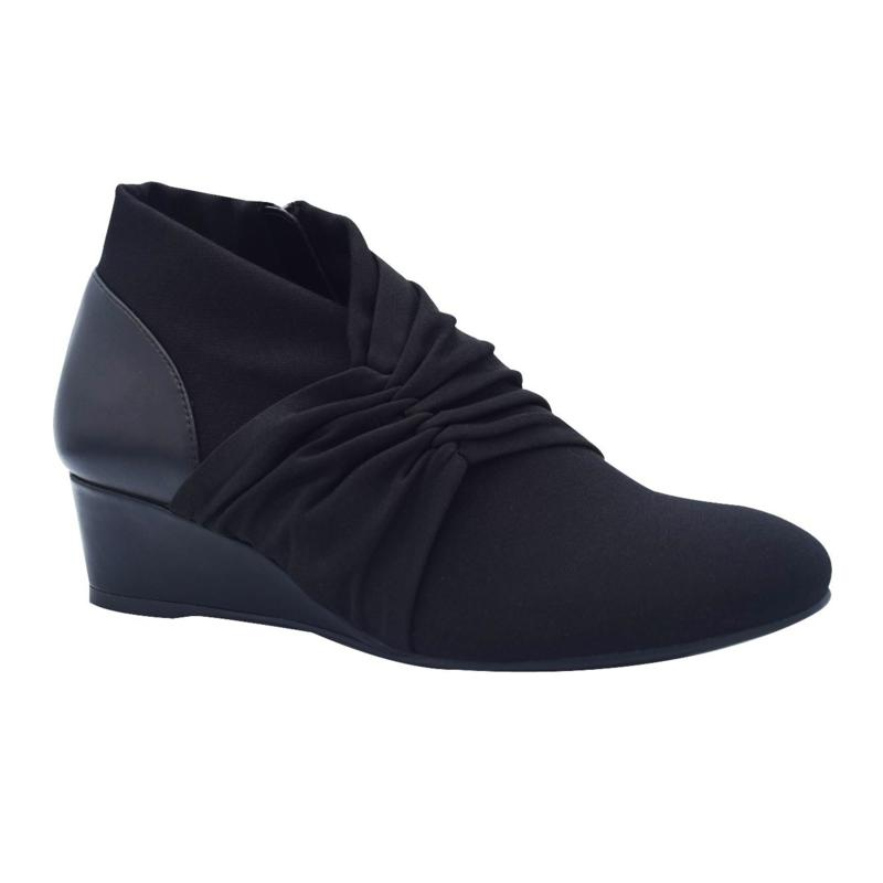 Gusta Stretch Wedge Ankle Bootie with Memory Foam