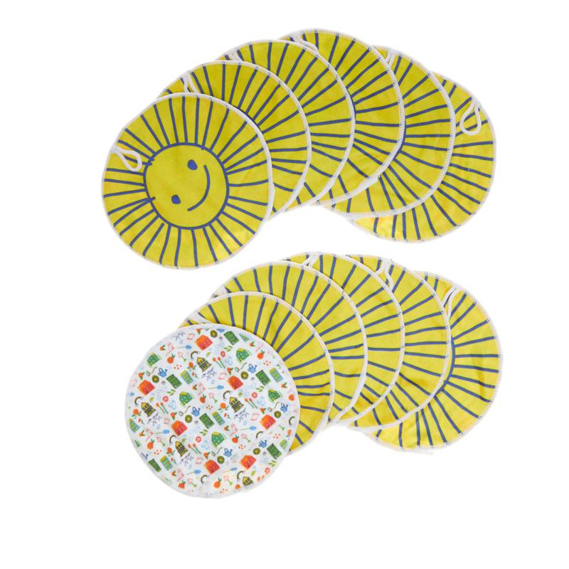 """Happy Place """"Sunny"""" 12-pack 8"""" Microfiber Cleaning Mitts"""