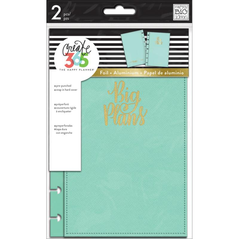 Happy Planner Mini Snap-In Hard Planner Cover  - Turquoise Big Plans
