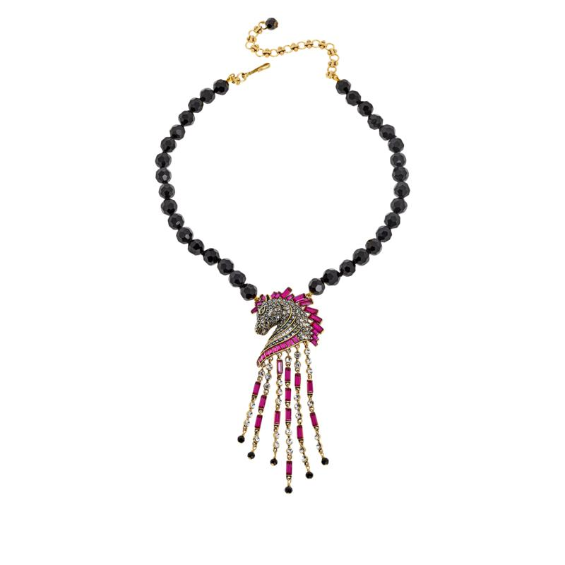 "Heidi Daus ""Decorative Dressage"" Beaded Crystal Drop Necklace"