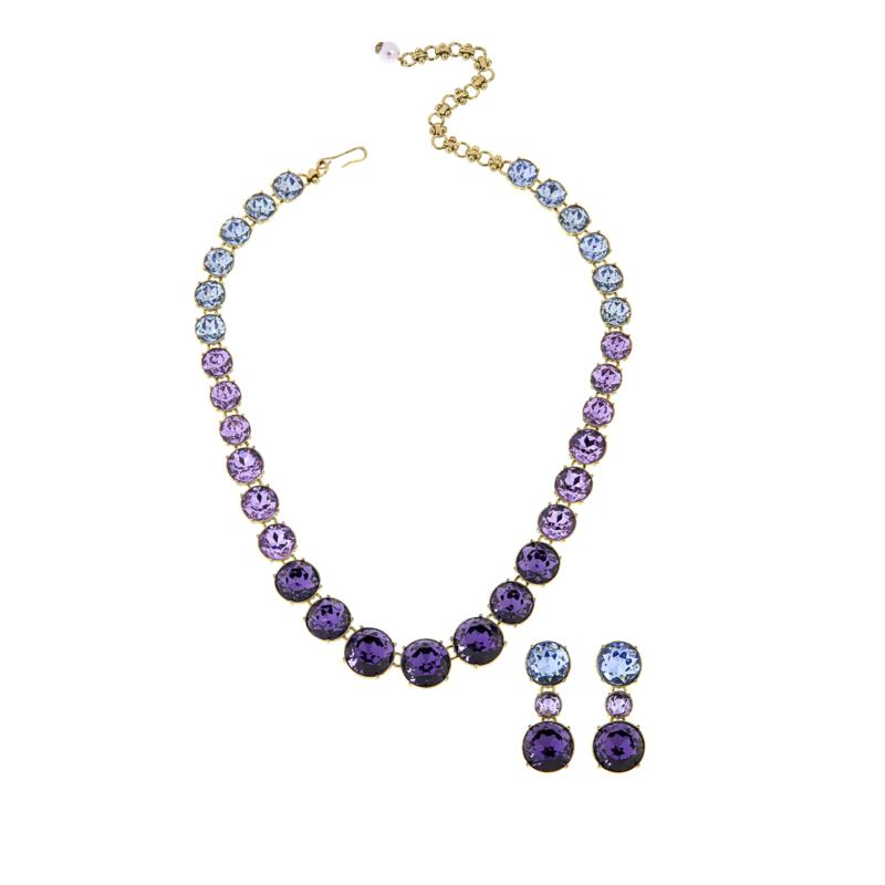 """Heidi Daus """"Diamonds are a Girl's BFF"""" Necklace and Earrings Set"""