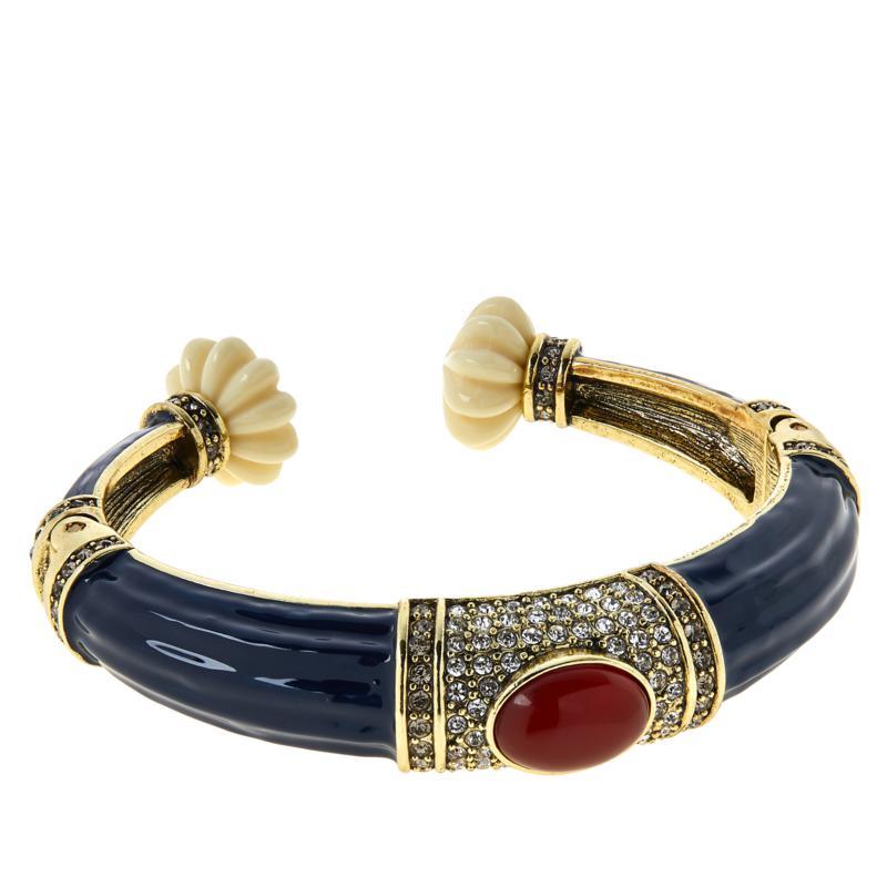 "Heidi Daus ""Modern Masterpiece"" Hinged Cuff Bracelet"