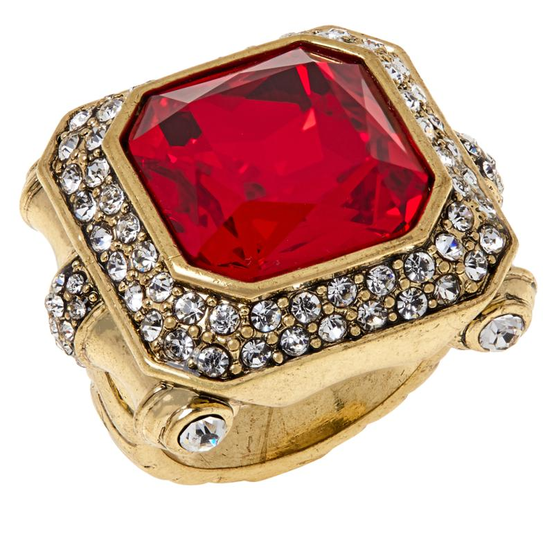 "Heidi Daus ""Simply Sensational"" Crystal Ring"