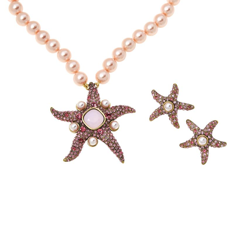 """Heidi Daus """"Star of the Sea"""" Necklace and Earrings Set"""