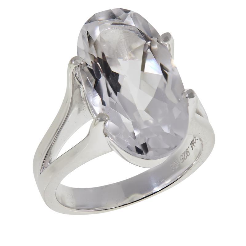 "Herkimer Mines ""Diamond"" Quartz Oval Solitaire Ring"