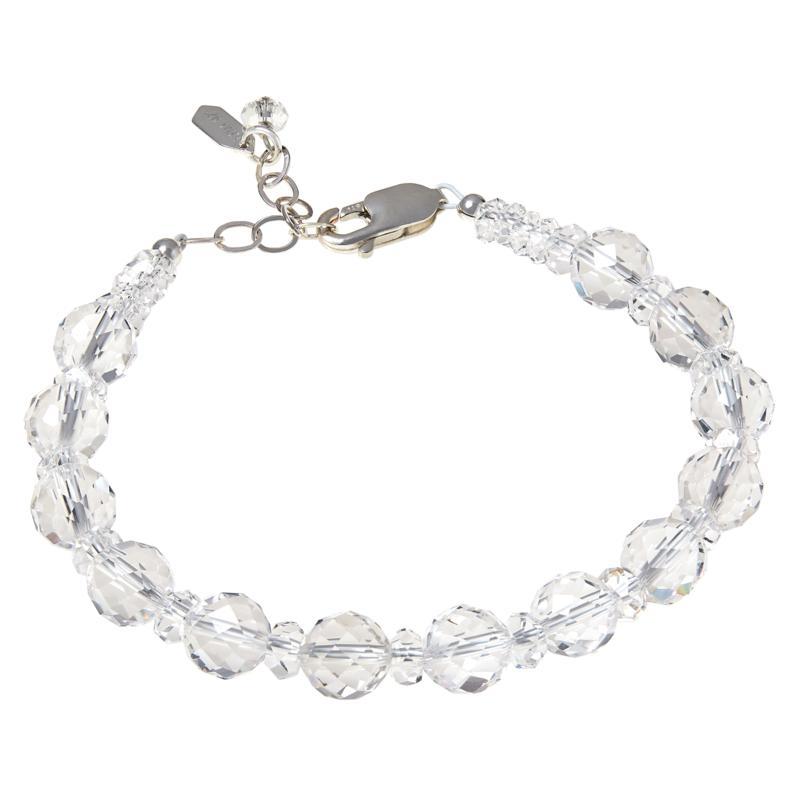 """Herkimer Mines """"Diamond"""" Quartz Sterling Silver Bold Beaded Bracelet"""