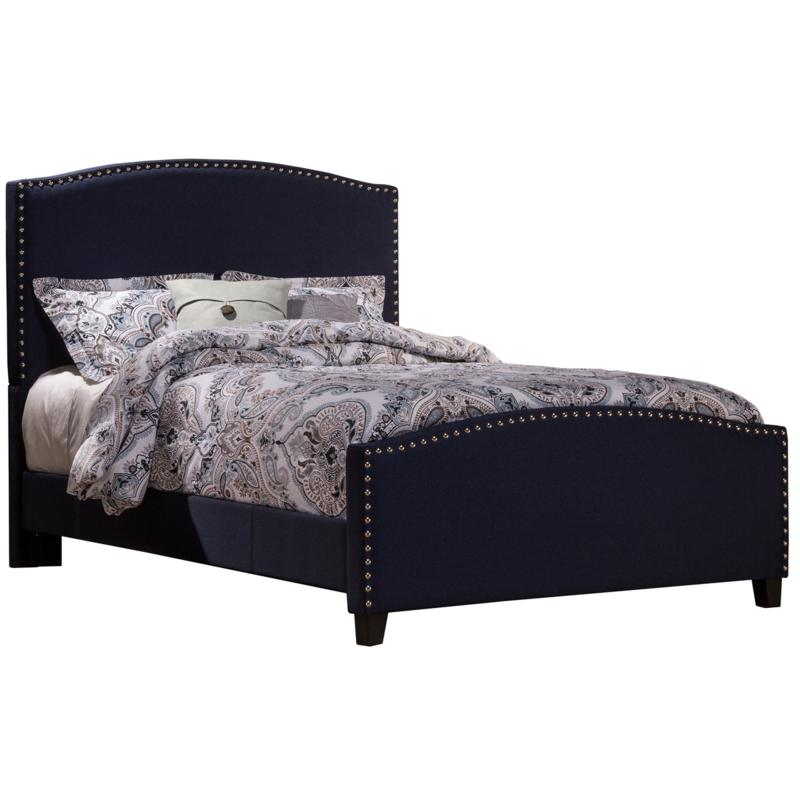 Hillsdale Kerstein Twin Bed with Rails - Navy Linen