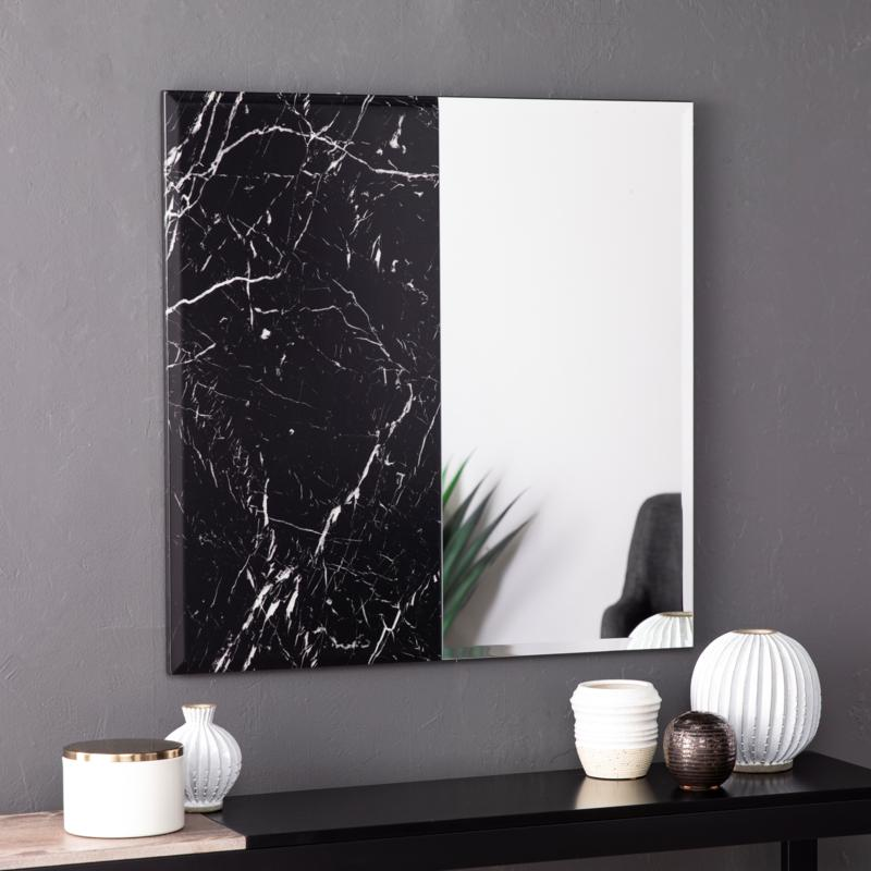 Holly & Martin Bowers Square Decorative Mirror - Black
