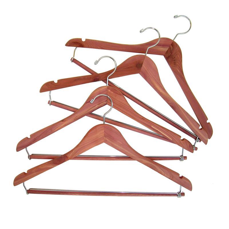 Household Essentials Cedar Hanger with Locking Bar 4pk