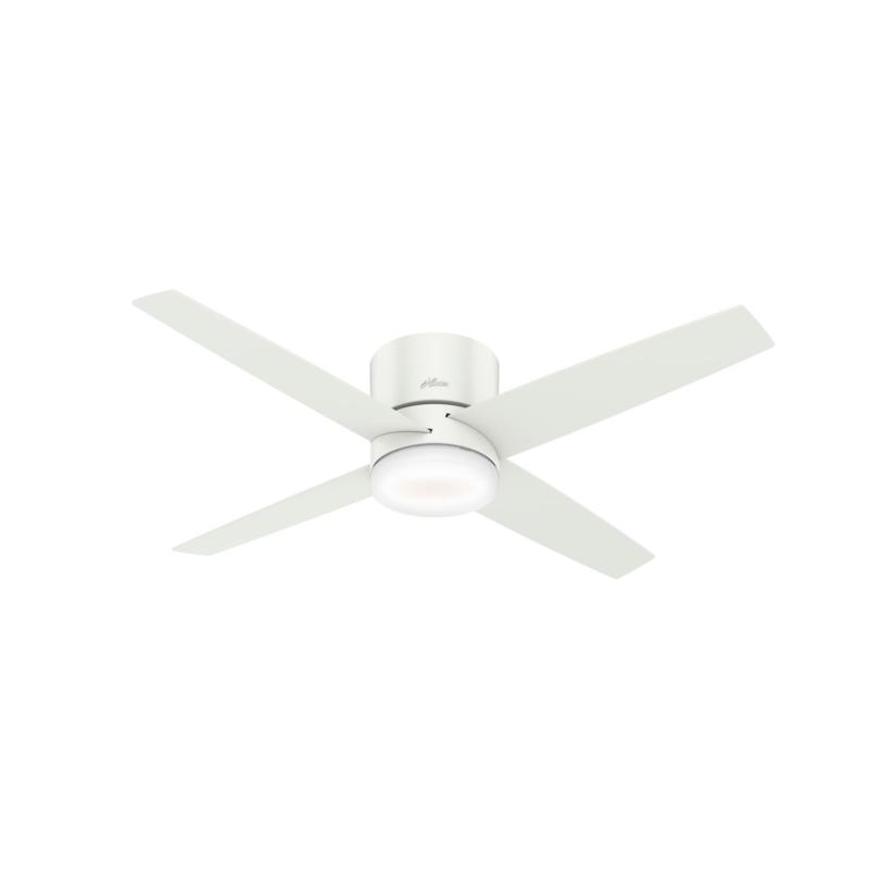 Hunter 54 Wifi Advocate White Ceiling Fan With Light Kit Remote 9693438 Hsn