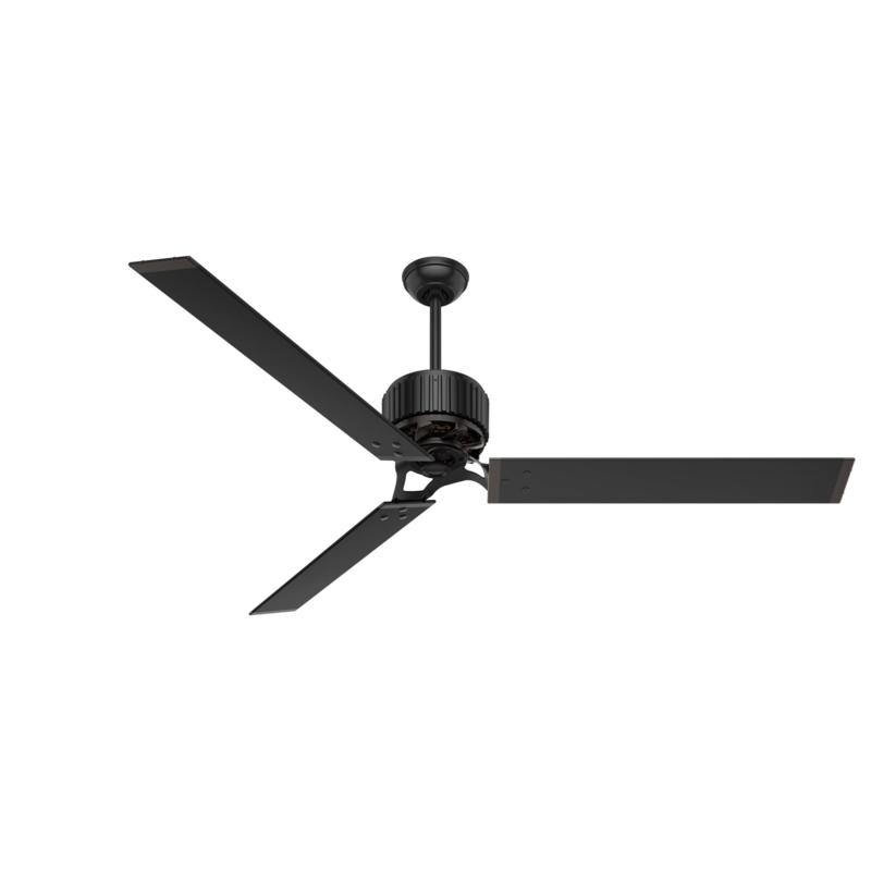 """Hunter 72"""" HFC  Ceiling Fan with Wall Control - Matte Black"""