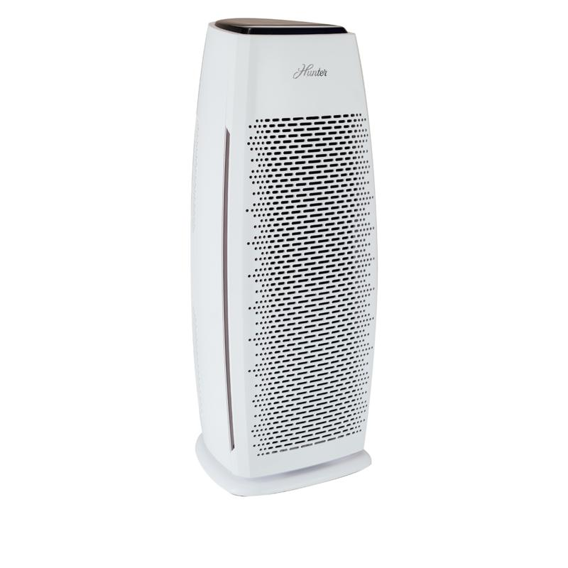 Hunter True HEPA Tall Tower Air Purifier with EcoSilver Pre-Filter