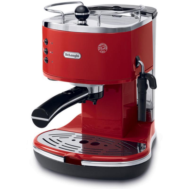 Icona 15-Bar Pump Driven Espresso/Cappuccino Maker - Red