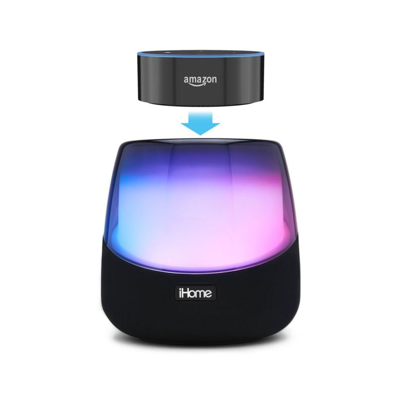 iHome Color Changing Bluetooth Stereo Speaker for Amazon Echo Dot
