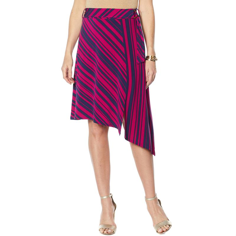 IMAN Global Chic Luxury Resort Scarf Skirt with Self Tie