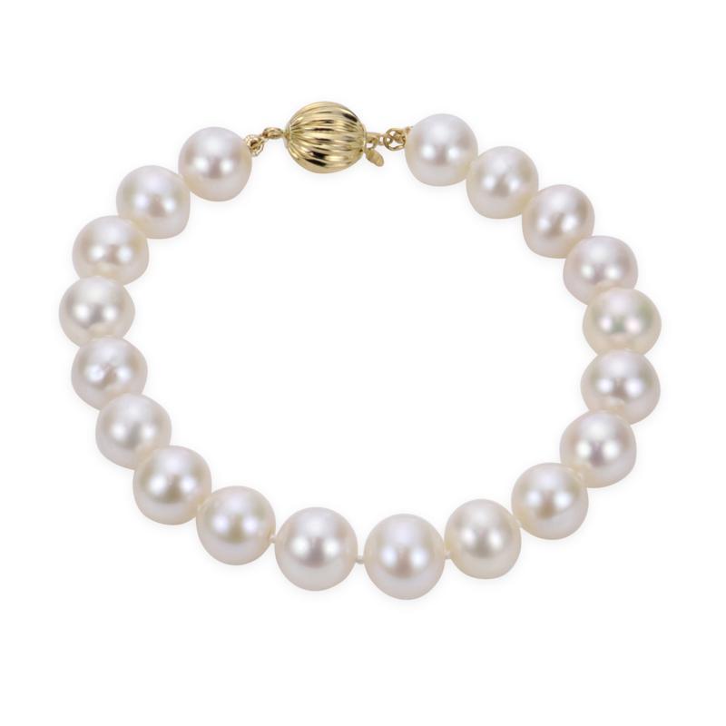 "Imperial Pearls 14K 8.5-9.5mm Cultured  Pearl 7-1/2"" Bracelet"