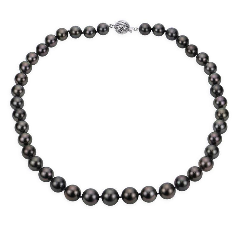 """Imperial Pearls 18"""" 18K 10-12.5mm Cultured  Tahitian Pearl Necklace"""