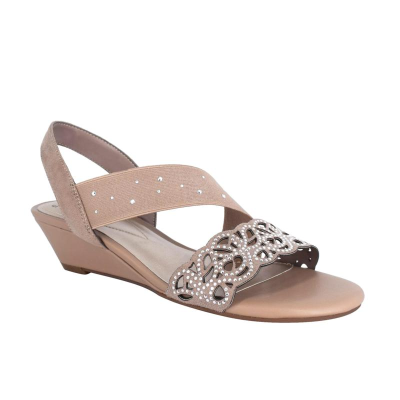 Impo Gatsby Stretch Wedge Sandal with Memory Foam