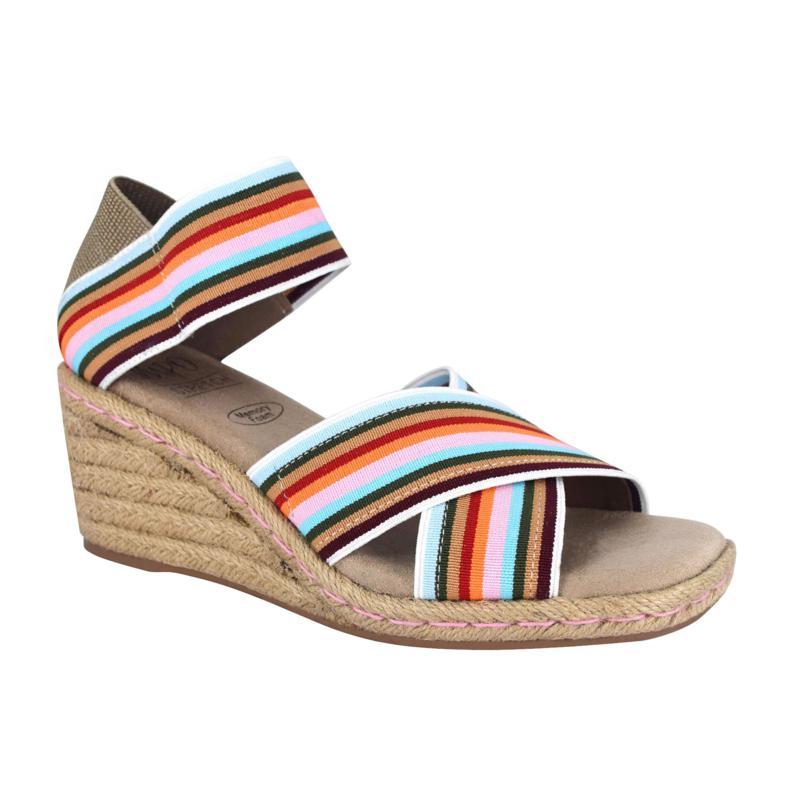 Impo Nayeli Stretch Elastic Espadrille Wedge Sandal