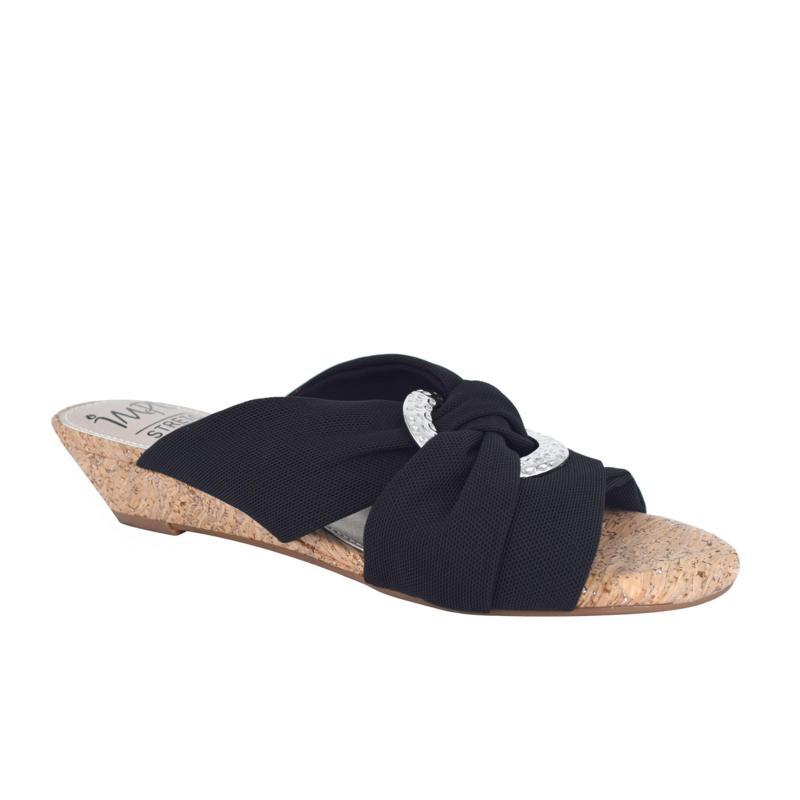 Impo Rexine Slide Sandal with Memory Foam
