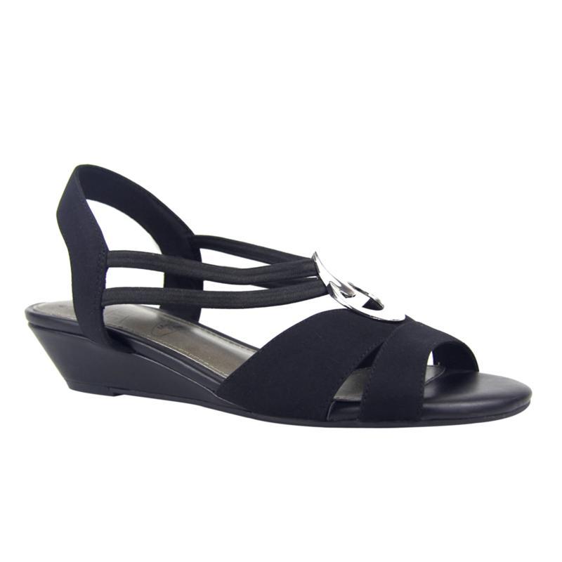 IMPO Ruddie Stretch Dress Sandal with Memory Foam