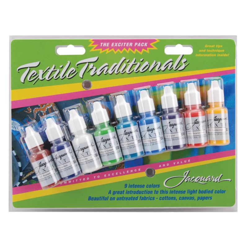 Jacquard Textile Traditionals Exciter Pack - 9 Colors