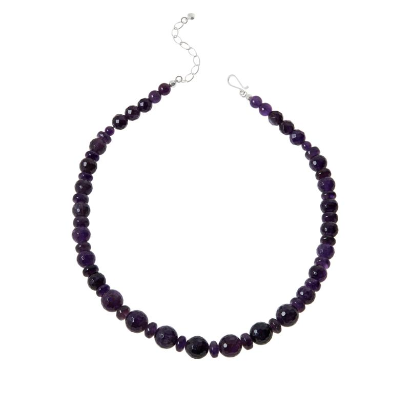 """Jay King 20"""" Sterling Silver Amethyst Bead Necklace"""