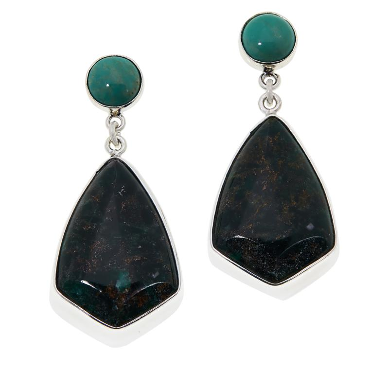 Jay King Australian Oasis Stone and Turquoise Earrings