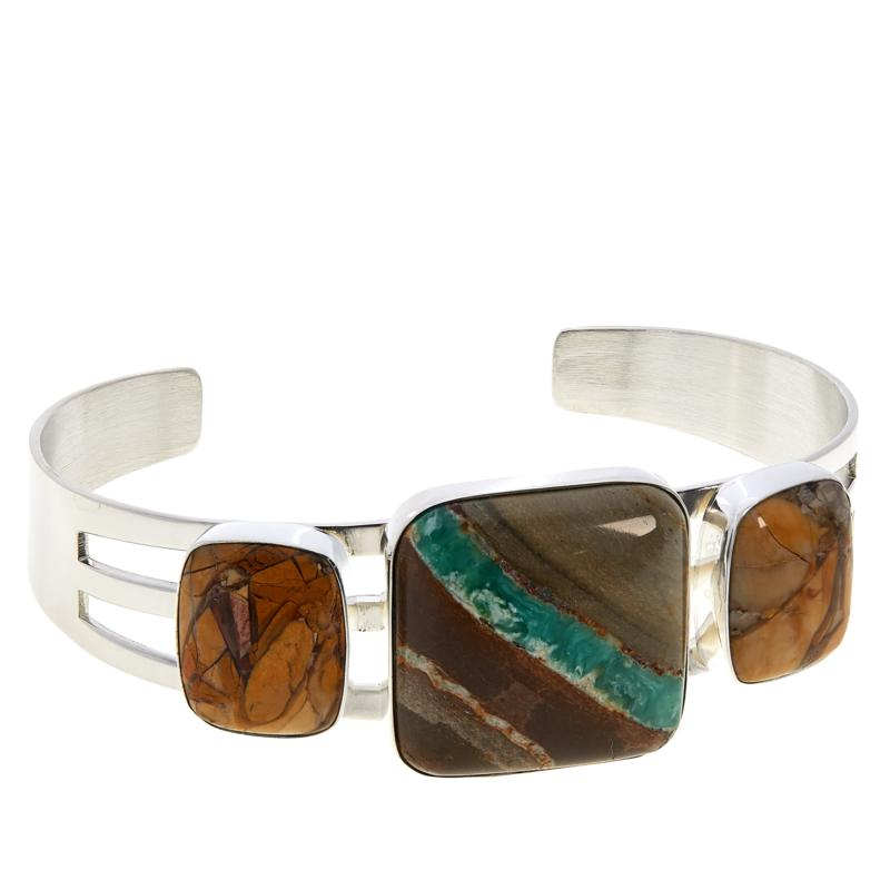 Jay King Boulder Variscite and Brecciated Opal Cuff